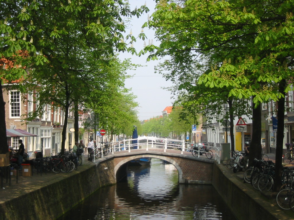 Canal Of Delft The Netherlands
