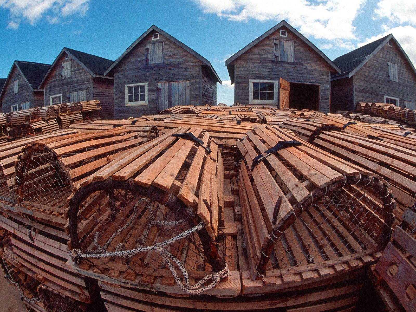 Fishing Huts and Lobster Traps Prince Edward Island Canada