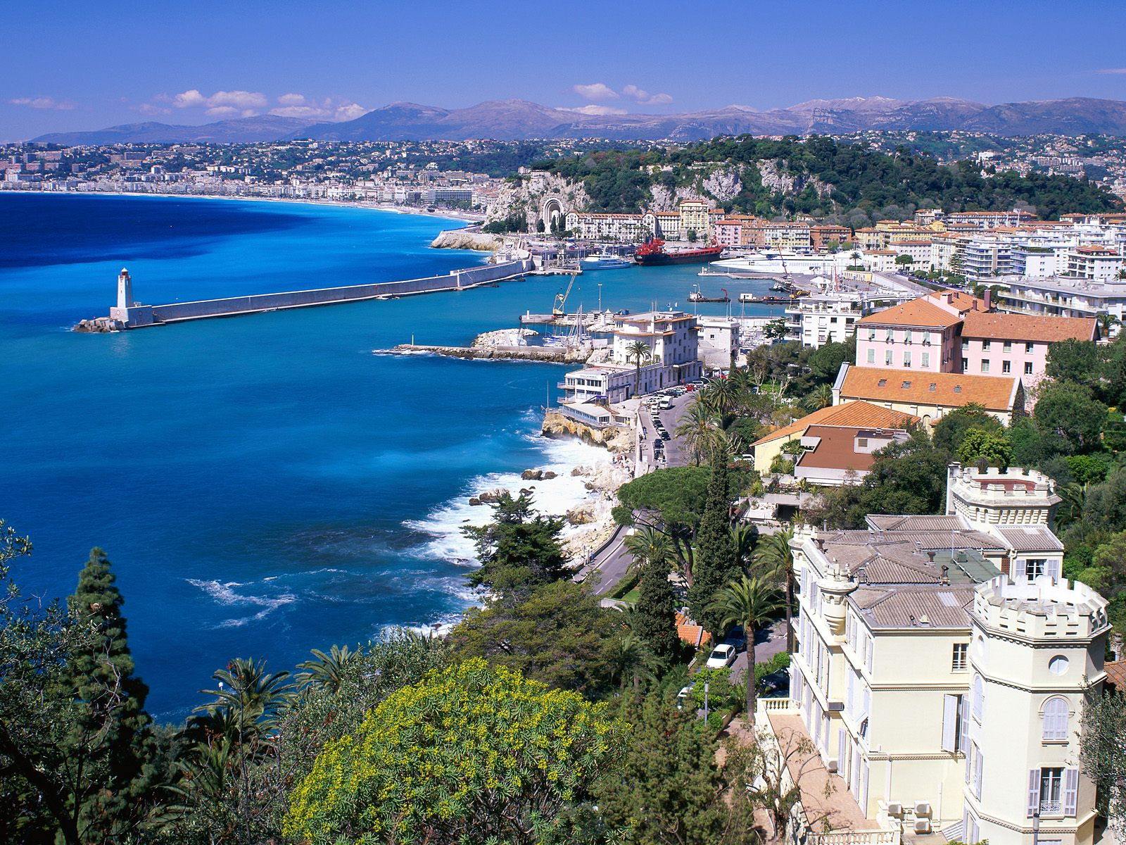 Просмотр Ницца, Франция картину, прибрежных Вид Ницца, Франция фото, прибрежных Просмотр ...