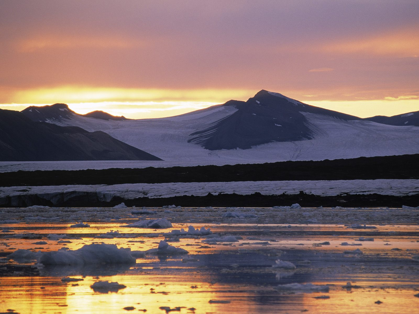 Evening Light Spitsbergen Norway