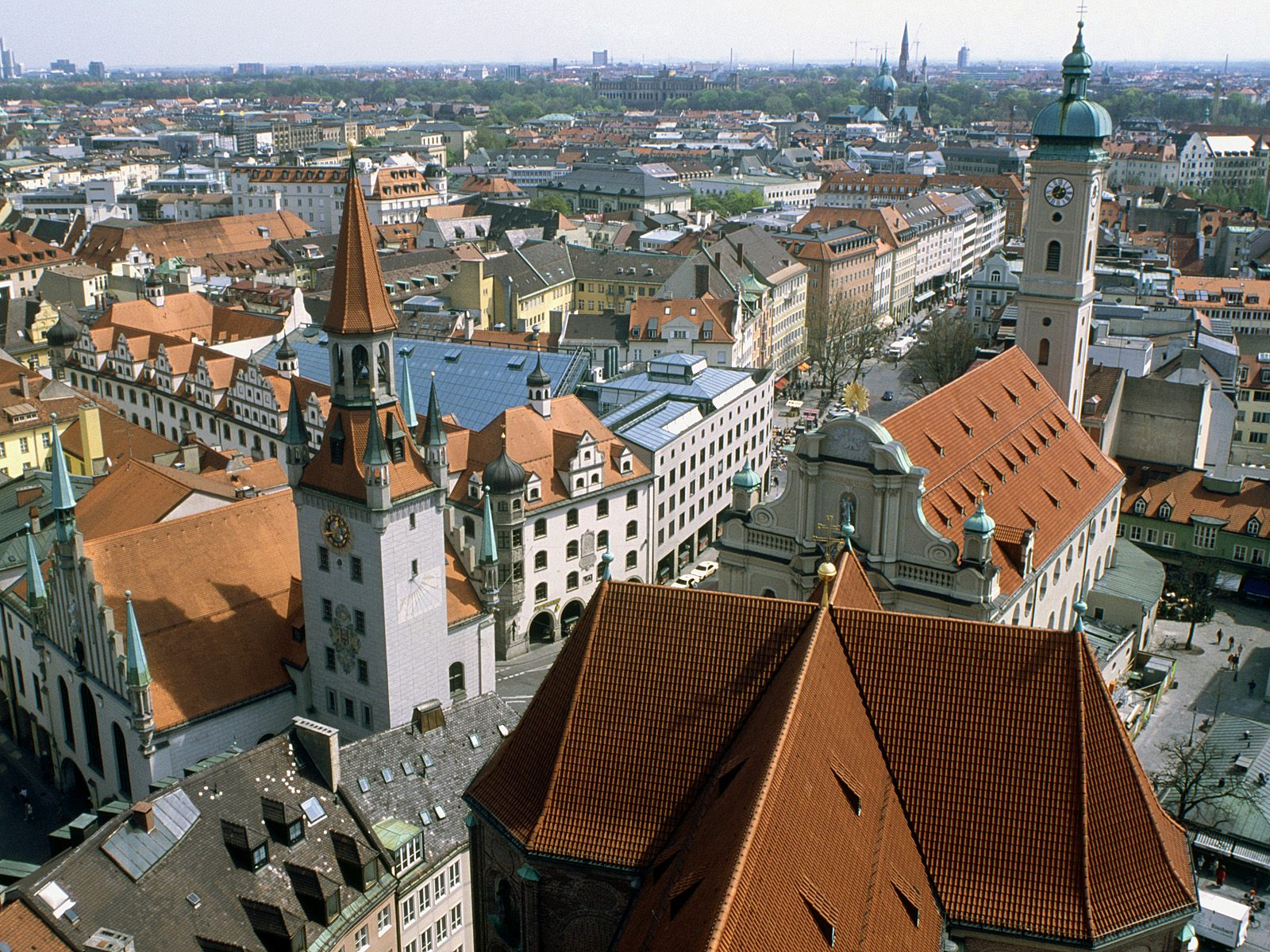 Heiliggeistkirche and Old Town Hall Munich Germany