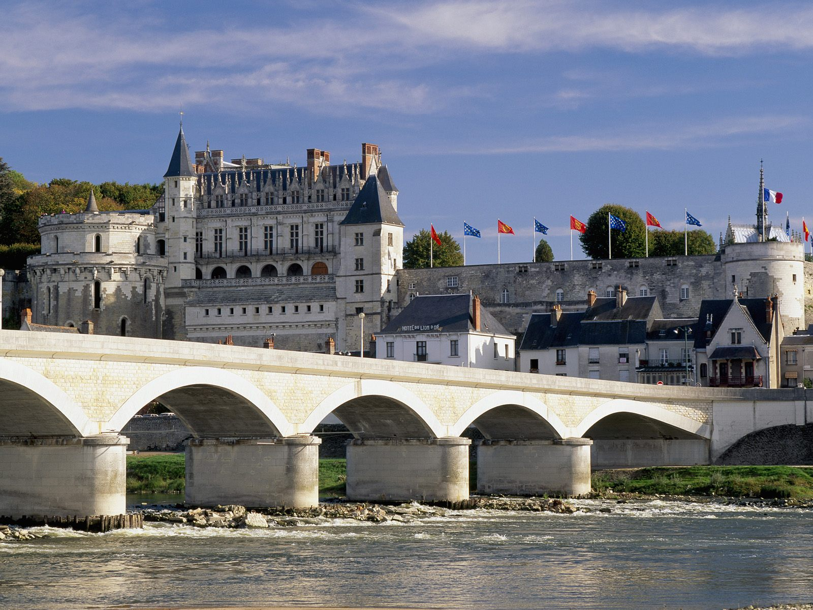 Chateau d'Amboise and Bridge Loire Valley France