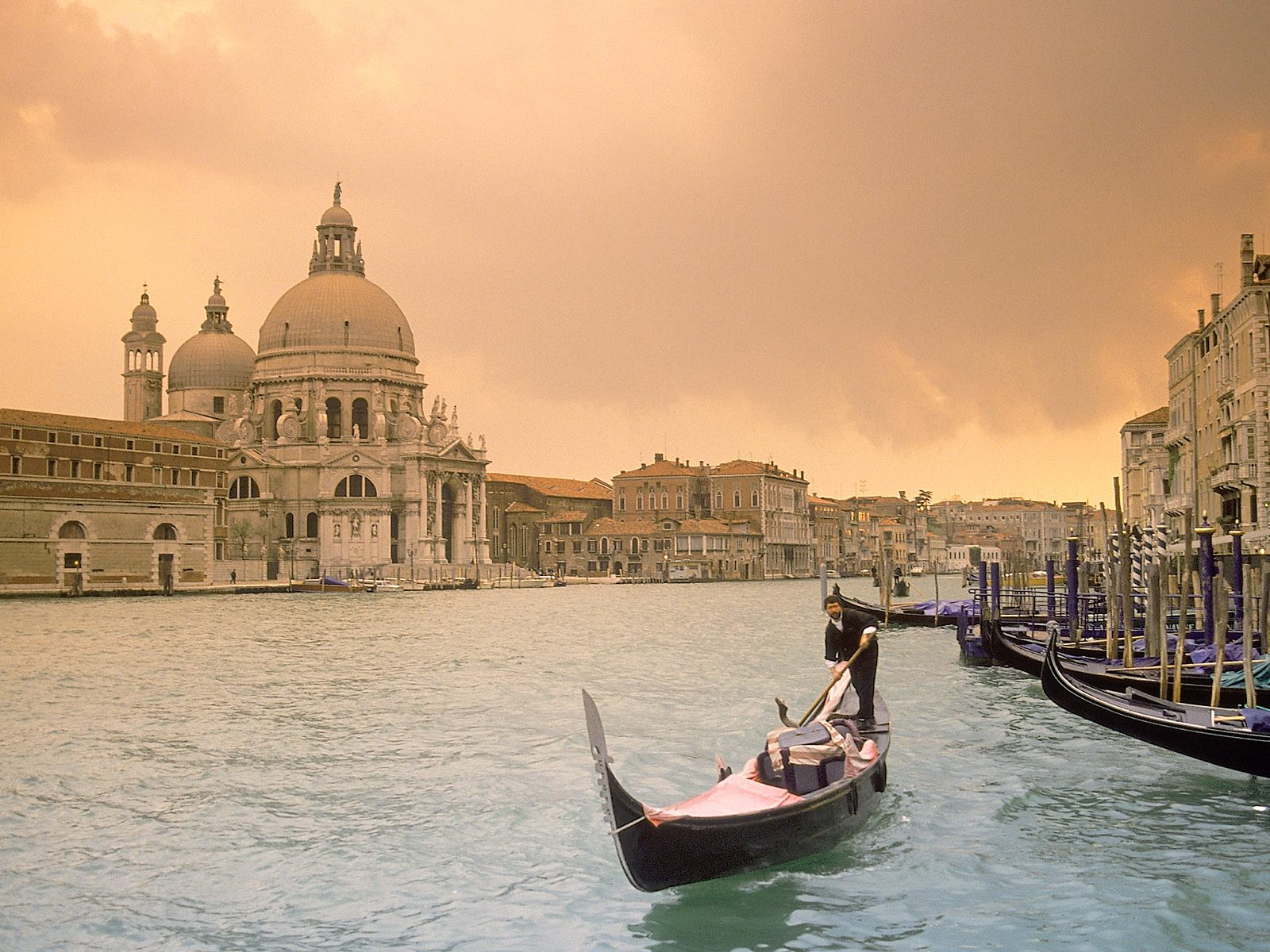 Sunset Over Grand Canal Venice Italy