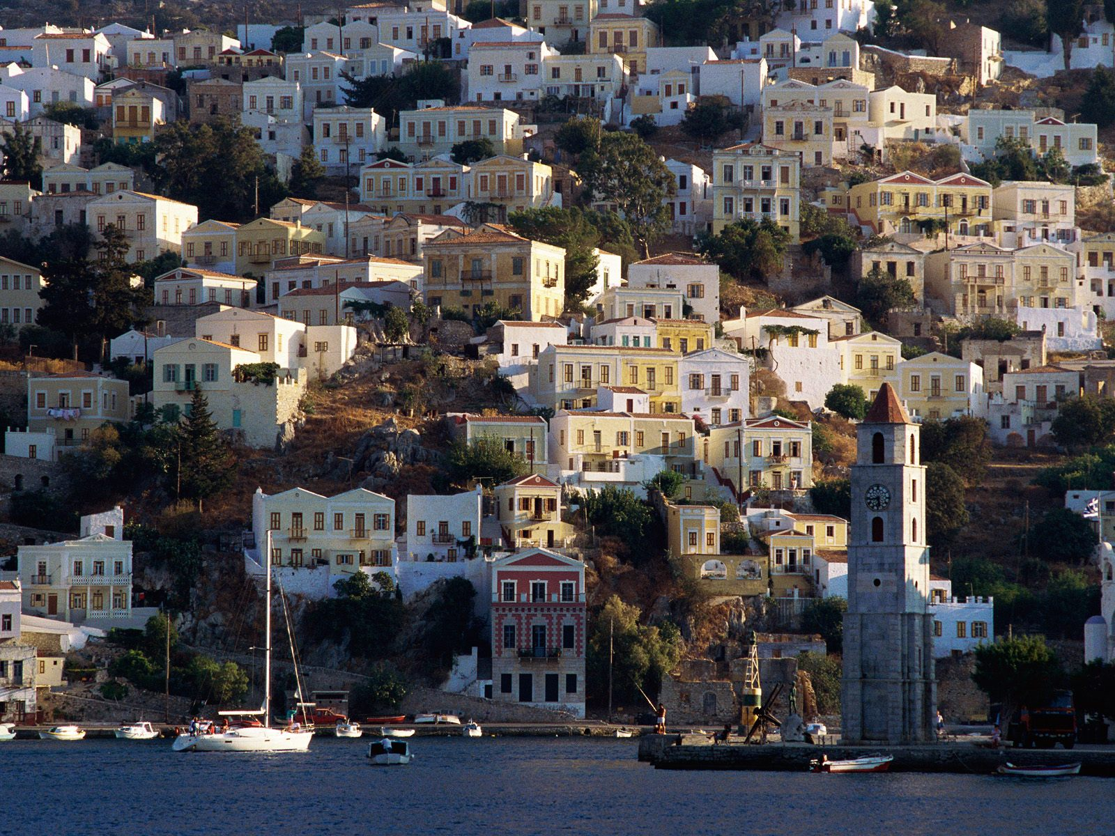 Harbor Town of Yialos Island of Symi Greece