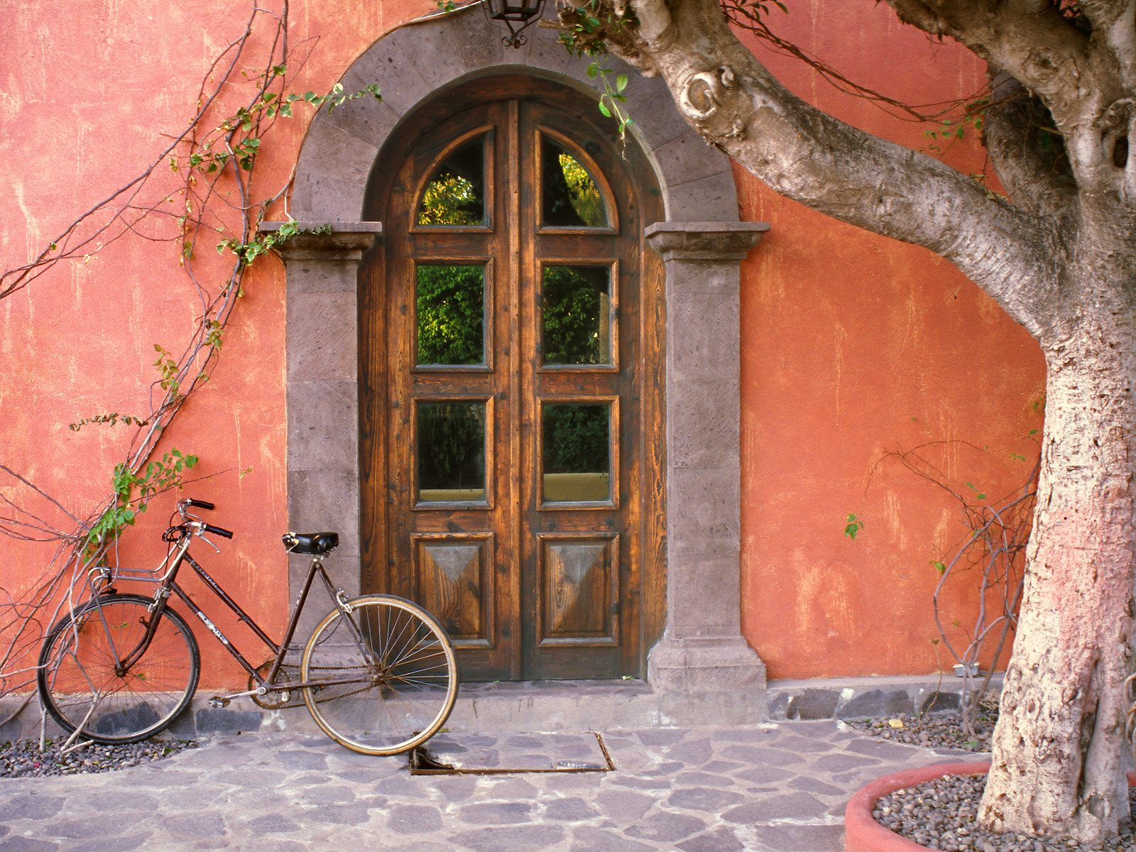 Doorway and Bicycle Loreto Mexico