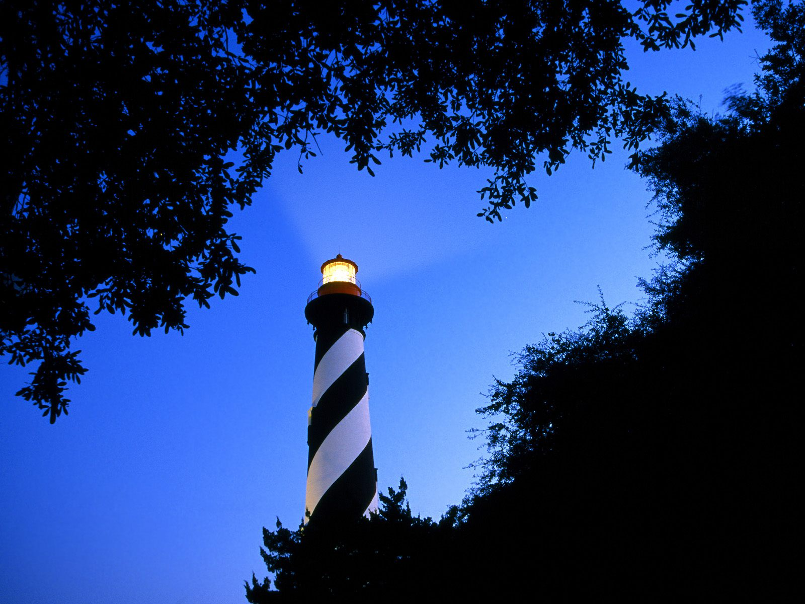 St. Augustine Lighthouse at Twilight Florida