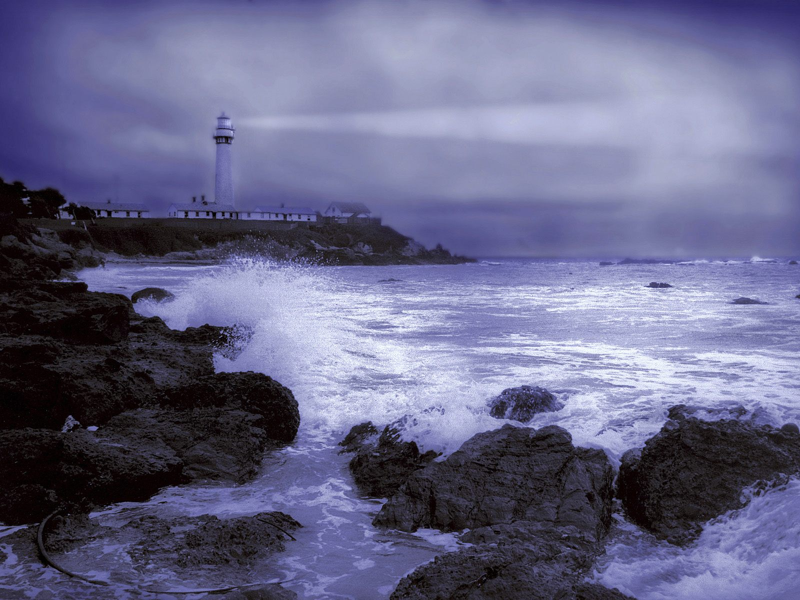Stormy Weather Pigeon Point Light Station California