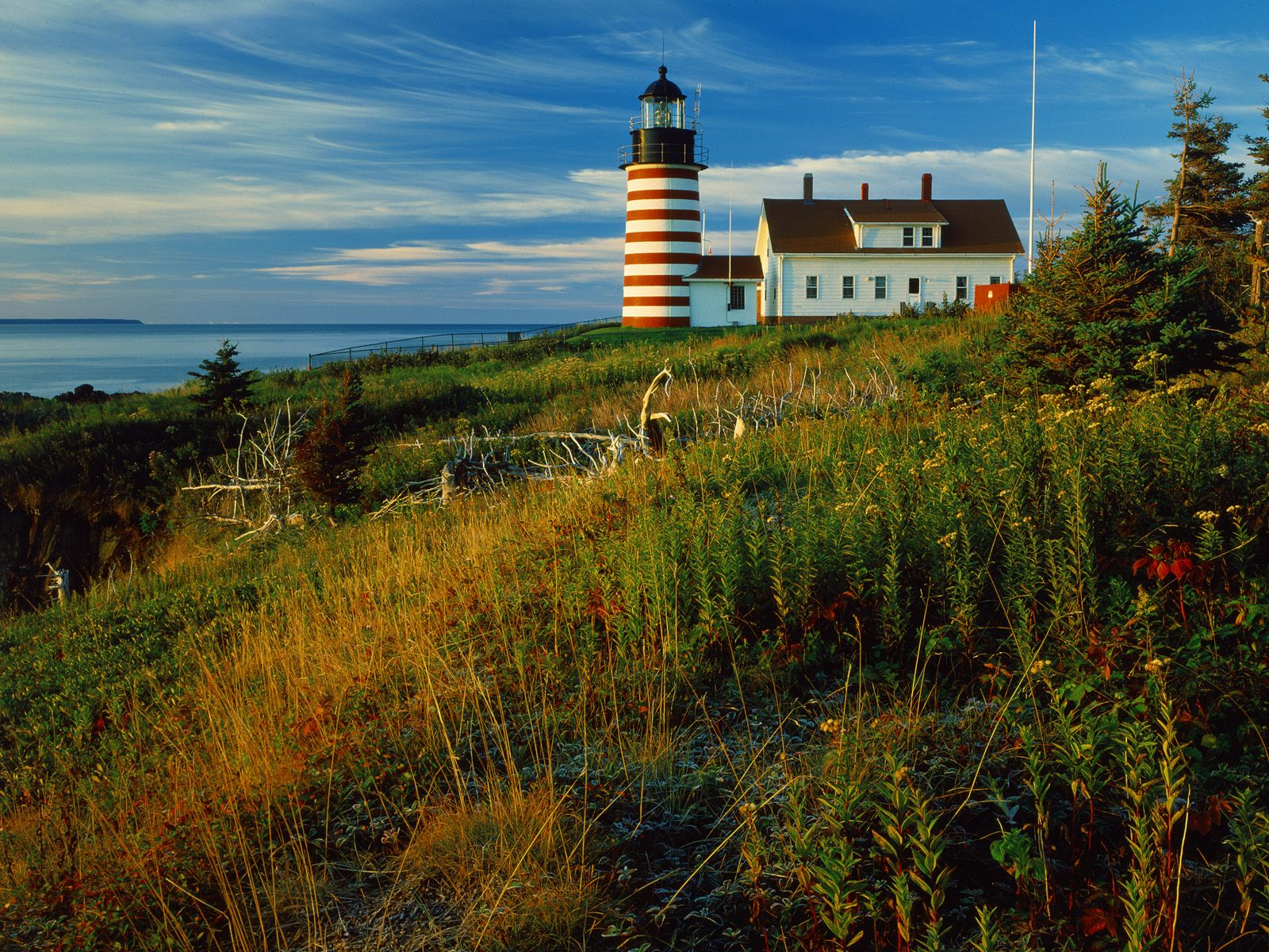 Sunrise at Quoddy Head Lighthouse Lubec Maine