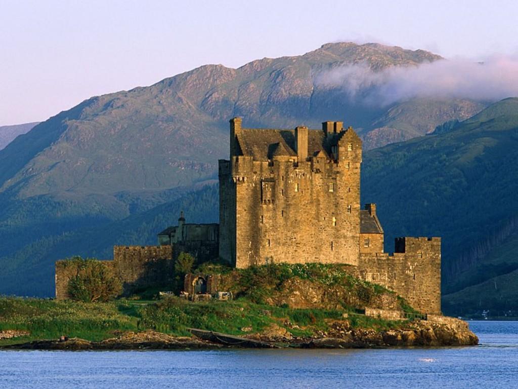 eilean donan castle near dornie scotland postcard eilean