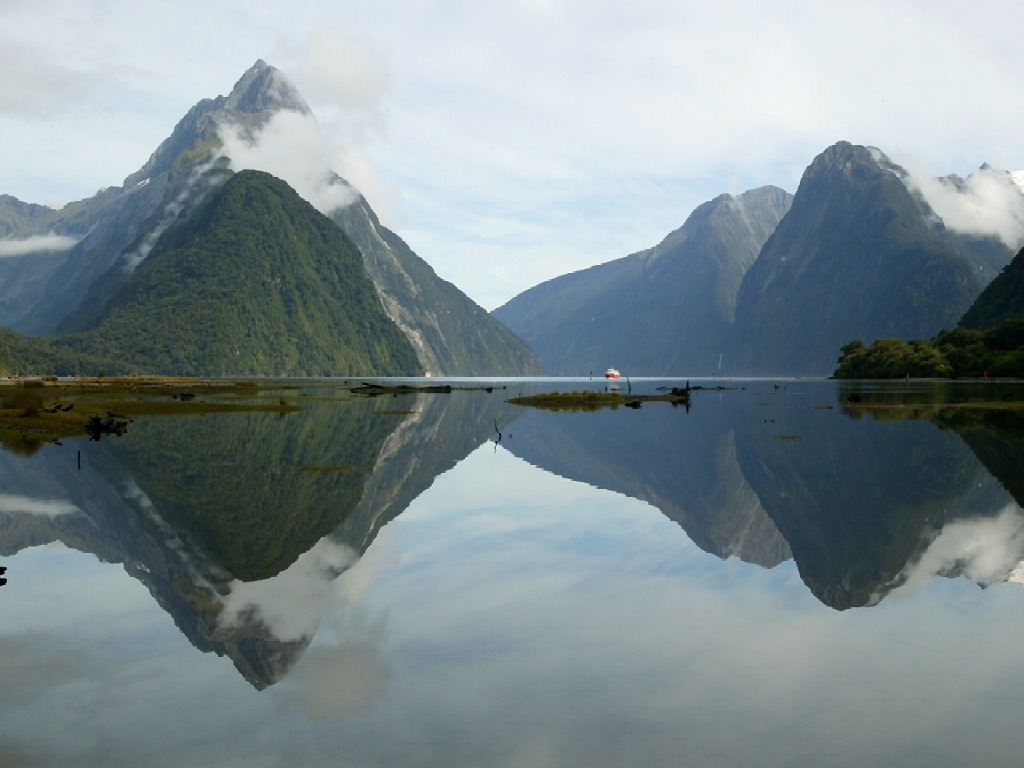 Mitre Peak Milford Sound New Zealand