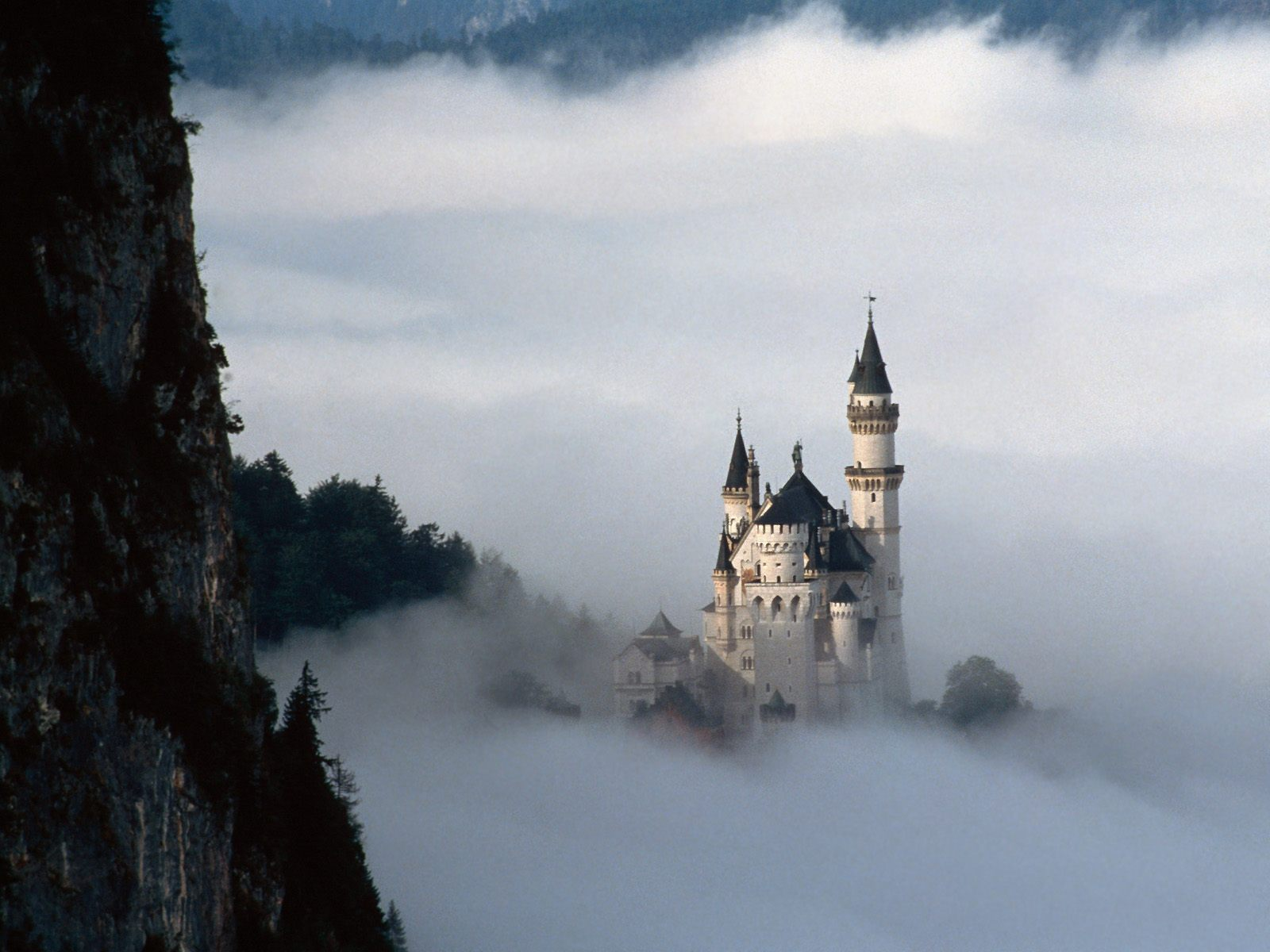Neuschwanstein Castle Bavaria Germany - clowds