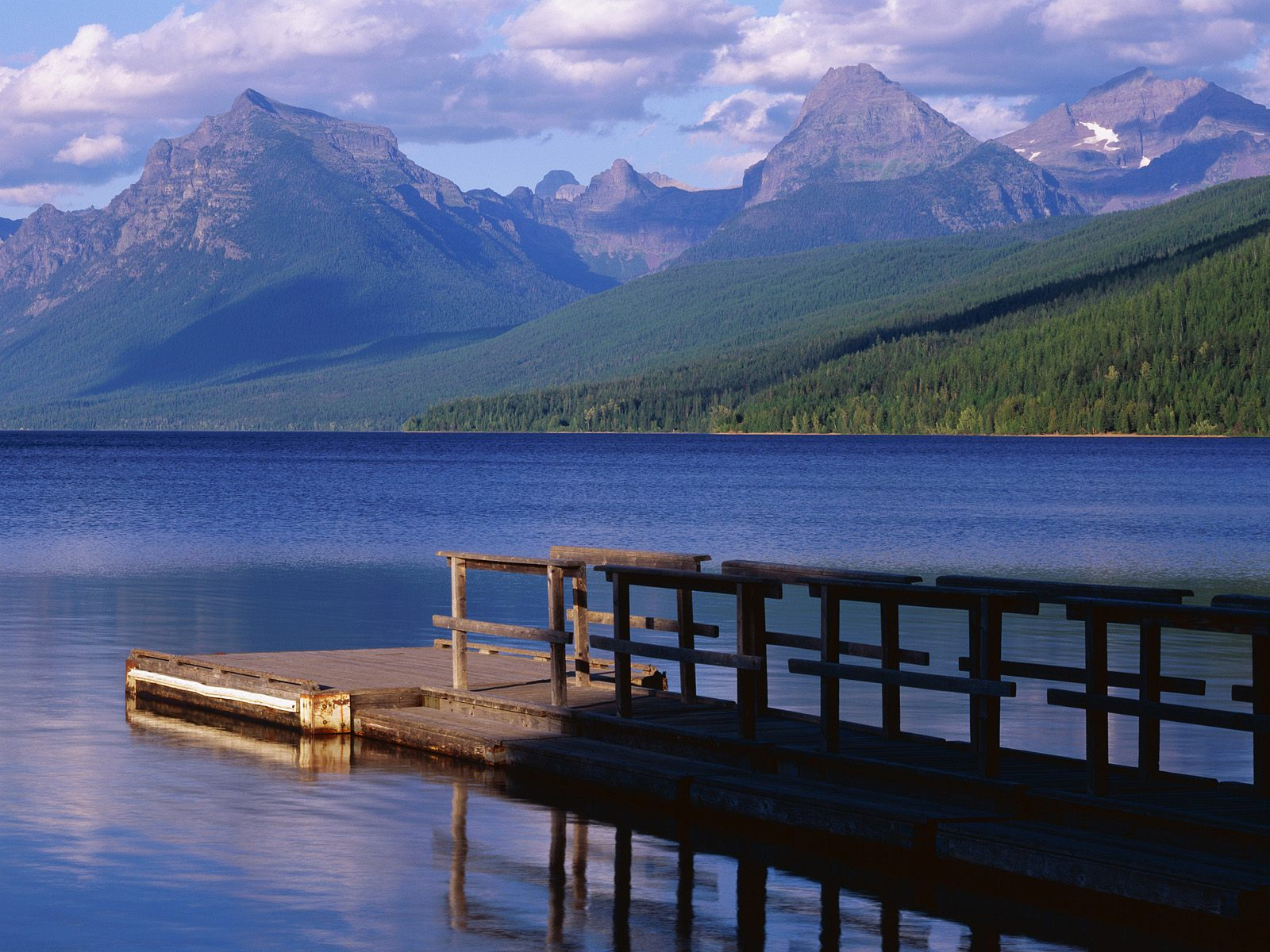 Boat Dock Lake McDonald Glacier National Park Montana