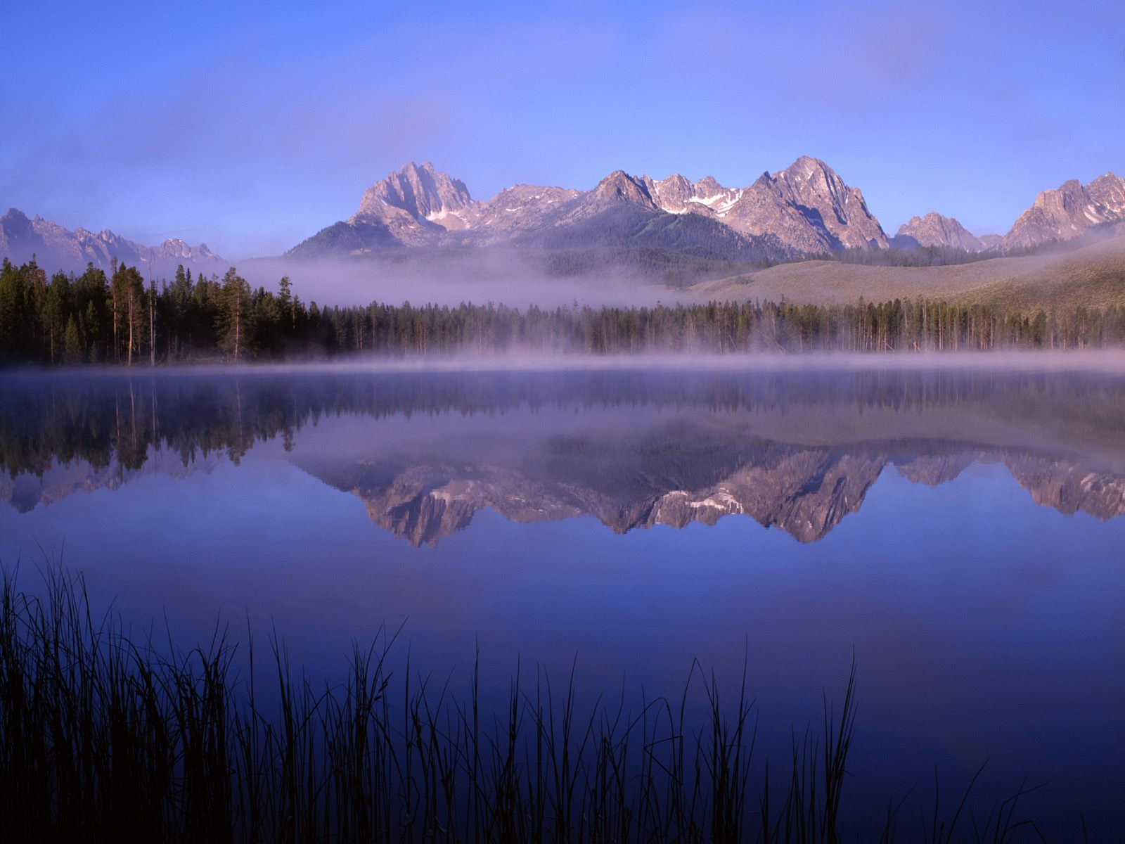 Morning at little redfish lake idaho picture morning at for Best fishing in idaho