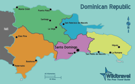 Dominican Republic Regions Map