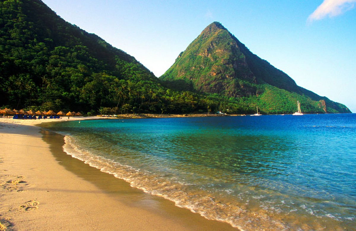 saint lucia seaside