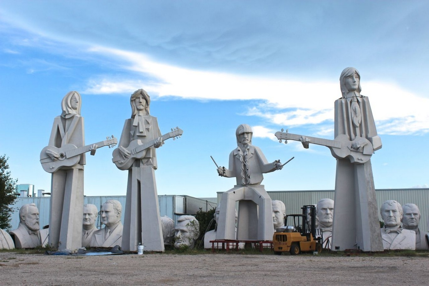 houston beatles statues