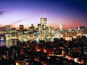 Lower Manhattan as seen over Brooklyn Heights New York