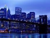 Manhattan Skyline From Brooklyn New York