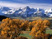 Autumn Colors Sneffels Range Colorado