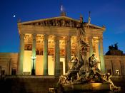 Pallas Athene Fountain Parliament Building Vienna Austria
