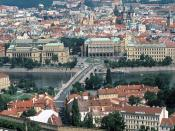 Manesu Bridge Over the Vltava River Prague Czech Republic