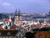 Panorama of the Church of Our Lady before Tyn Prague Czech Republic