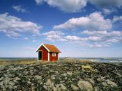 Small Hut at the Coastline of the Baltic Sea Tjust Archipelago Sweden