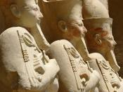 Statues at the 3rd Terrace Temple of Hatshepsut Deir el Bahri Thebes Luxor Egypt