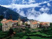 Village in Alta Roca Region Corsica France