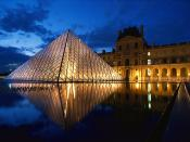 Pyramid at Louvre Museum, Paris, France