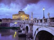 Castel Sant'Angelo and Bridge Rome Italy