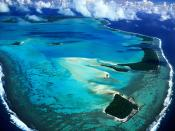 Aerial View of Aitutaki Island Cook Islands
