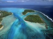 Fluidity Moorea Island From Above French Polynesia
