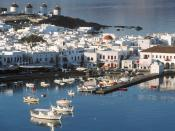 Mykonos Harbor Cyclades Greece