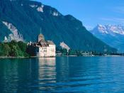 Chateau de Chillon Lake Geneva Switzerland