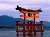 Grand Gate Itsukushima Shrine Miyajima Japan