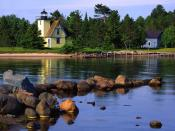Bette Grise Lighthouse Lake Superior Upper Peninsula Michigan