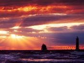 Grand Haven South Pierhead Lighthouse Michigan