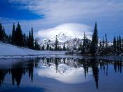 Mount Rainier Reflected in Tipsoo Lake Washington