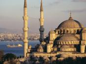 Blue Mosque and the Bosphorus Istanbul Turkey