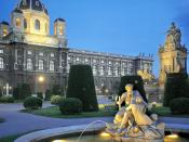 Austrian Garden at Twilight Vienna 1600x1200
