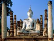 Meditation is Key Wat Mahathat Sukhothai Thailand 1600x1200