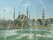 Famous Blue Mosque of Istanbul Turkey