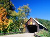 Lincoln Covered Bridge West Woodstock Vermont