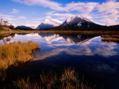 Mount Rundle From Vermillion Lakes Banff National Park Canada