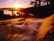 Eagle Creek and Emerald Bay at Sunrise Lake Tahoe California