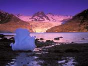 Icebergs at Sunrise Derickson Bay Alaska