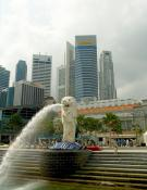 Merlion-fountain