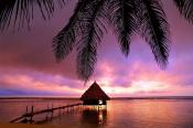 belize sun set